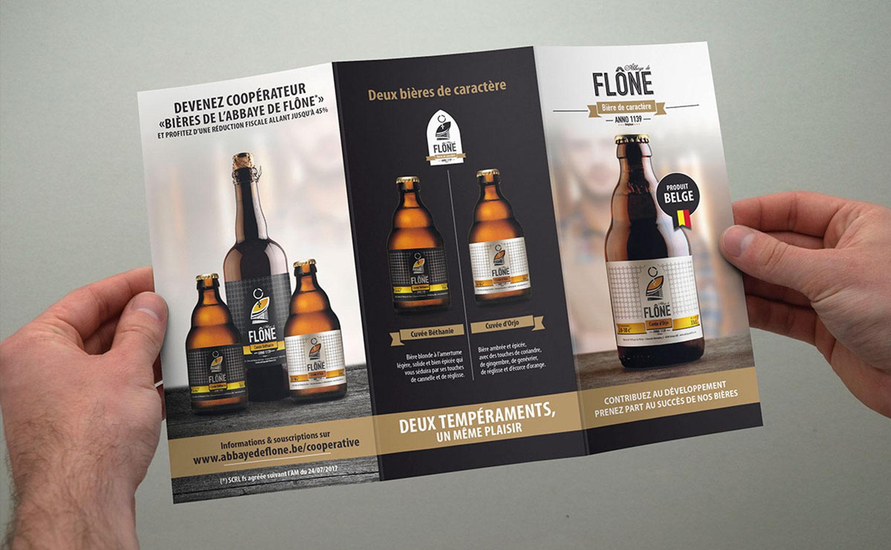 Identité visuelle des Bières de l'Abbaye de Flône