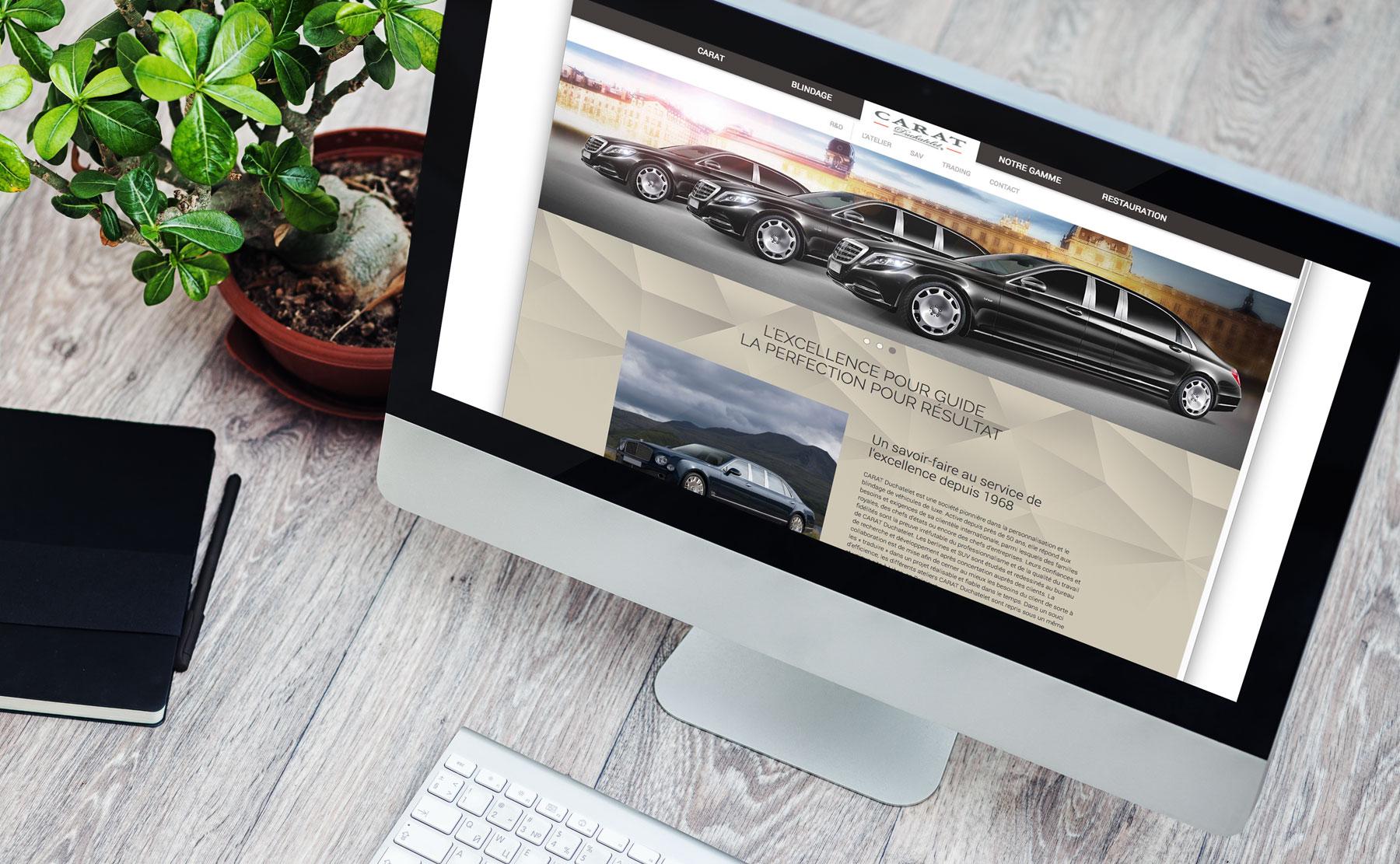 Web Design du site Carat Duchatelet
