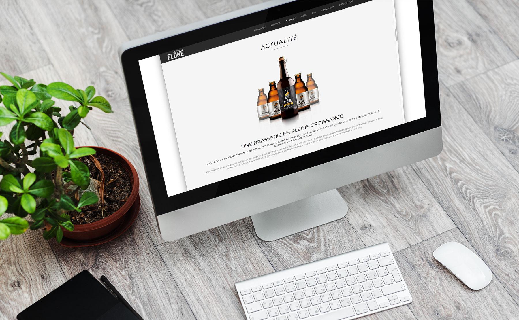 Design du site des bières de l'Abbaye de Flône