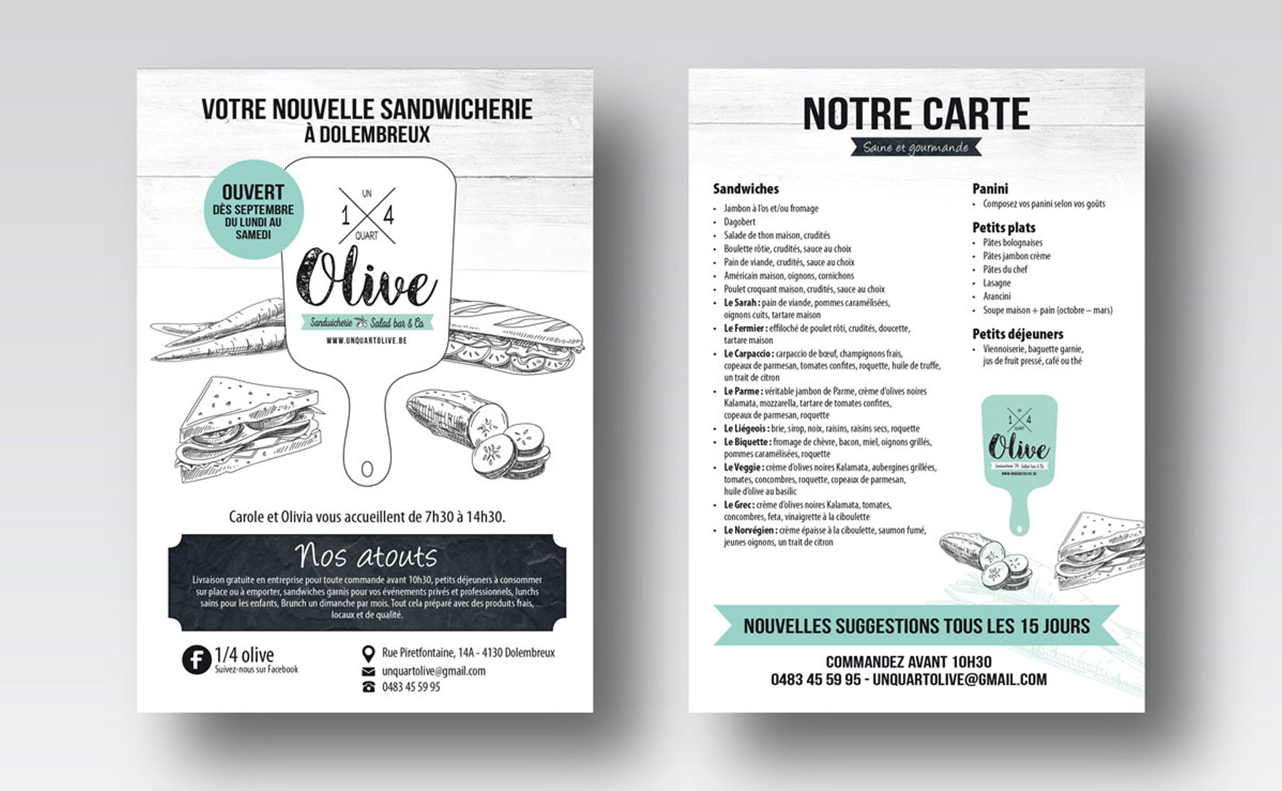 Identité graphique pour Un Quart Olive