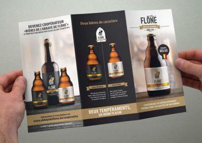 Bières de l'Abbaye de Flône - Graphiste Liège - Renaud Hardiquest